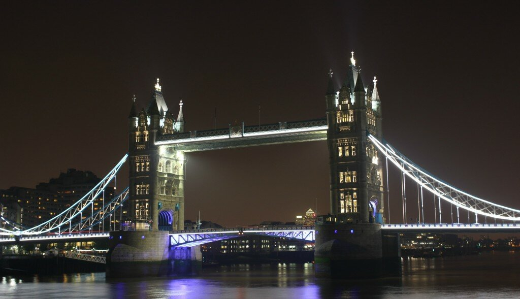Tower Bridge foi construída em 1894. Foto: Mapa de Londres