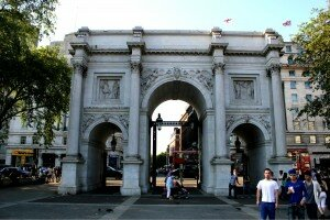 Antigamente, Marble Arch ficava na entrada do palácio. Foto: Mapa de Londres