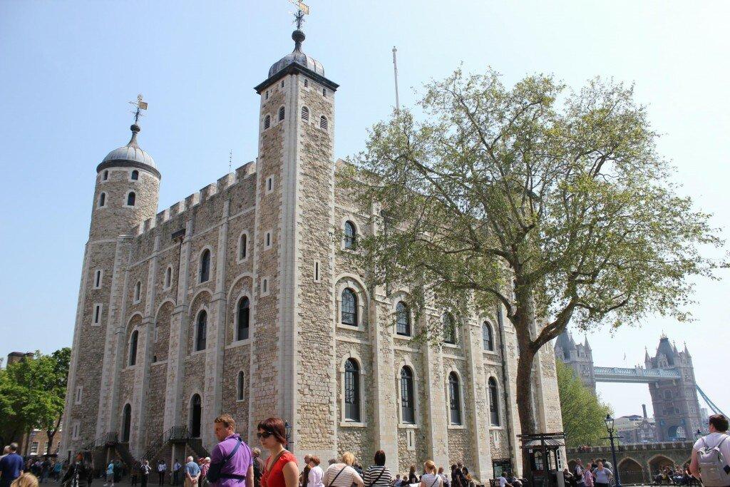 Esta é a temida White Tower. Foto: Mapa de Londres