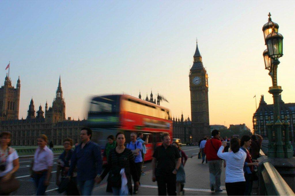Big Ben - Palácio de Westminster. Mapa de Londres
