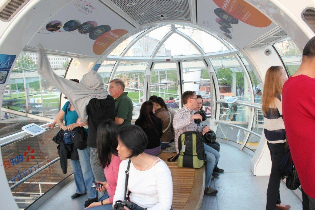 Visão 360 graus da cabine. Foto: Mapa de Londres