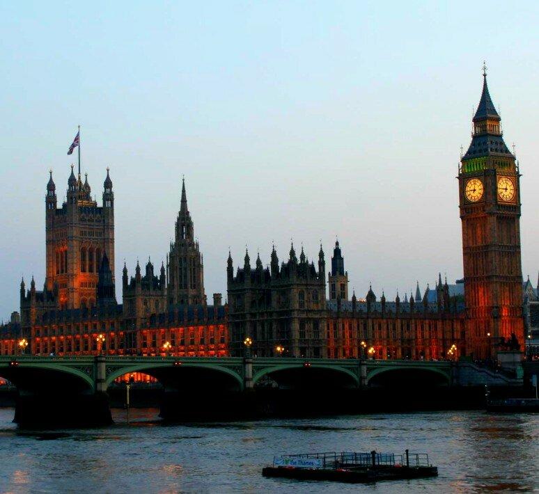 Rio Tâmisa está em quase todo cartão postal de Londres. Foto: Mapa de Londres