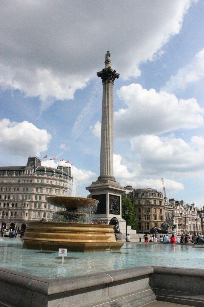 Trafalgar Square. Foto: Mapa de Londres