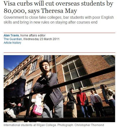 Londres vai dificultar entrada de estudantes