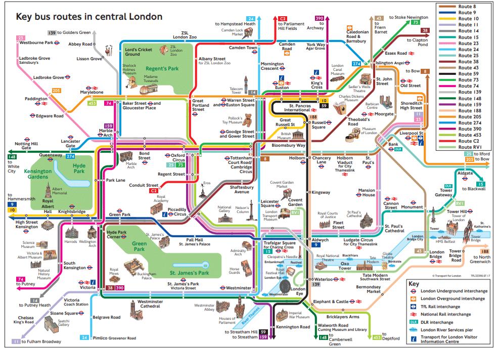 Mapa do ônibus em Londres: tudo que você precisa saber