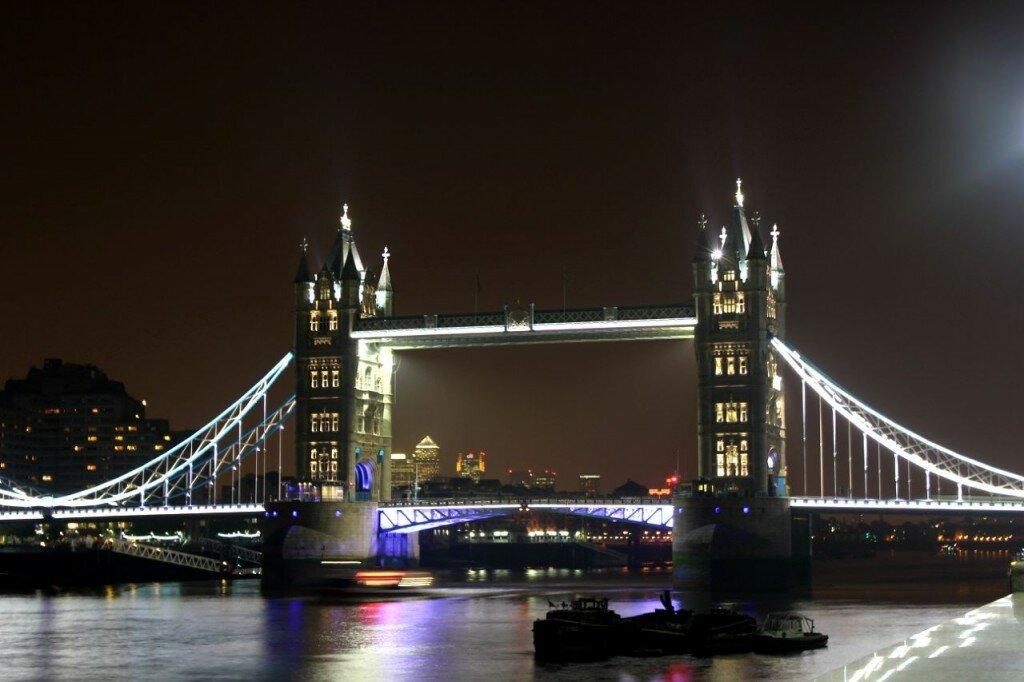 Muitas vezes, aTower Bridge é confundida com a London Bridge. Foto: Mapa de Londres