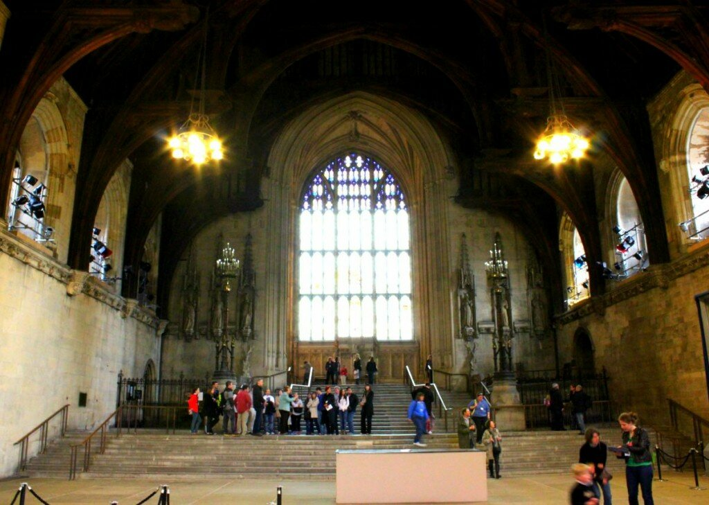 Westminster Hall no Palácio de Wesminster em Londres