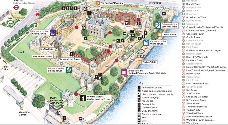 mapa de atrações de londres tower of london mapa | Londres   Mapa de Londres mapa de atrações de londres