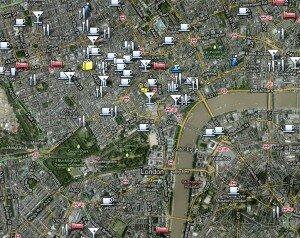 Mapa de wifi em Londres