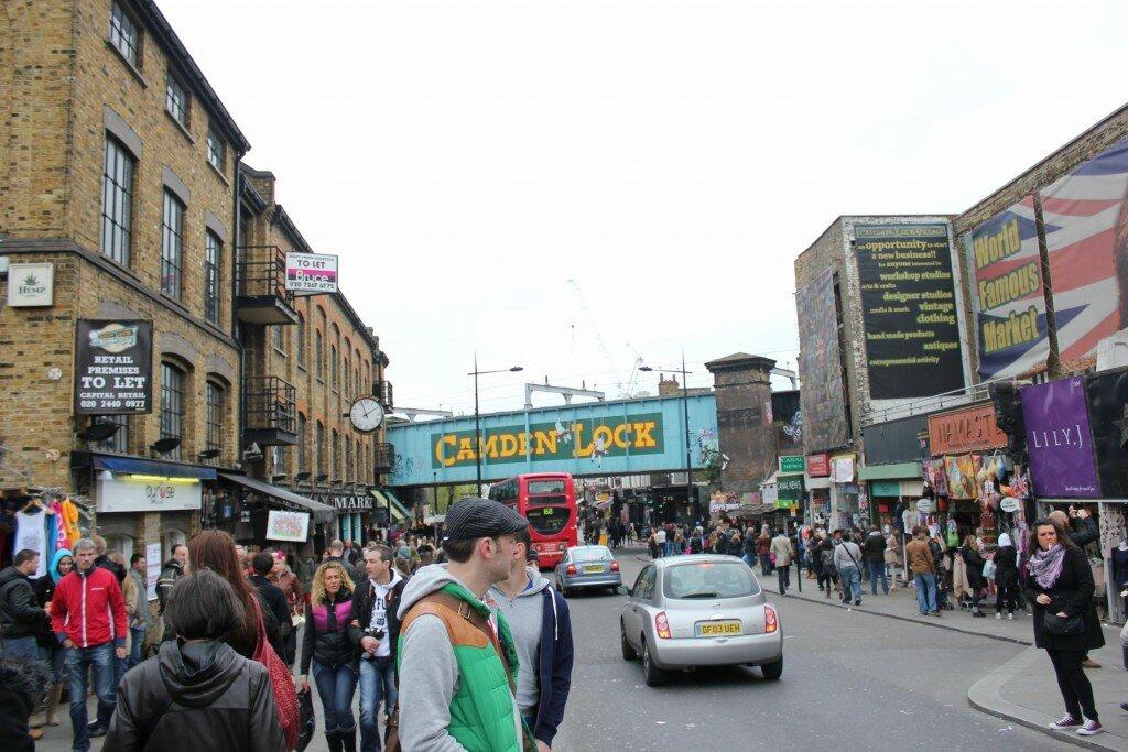 Bem-vindo a Camden Town. Fotos: Mapa de Londres