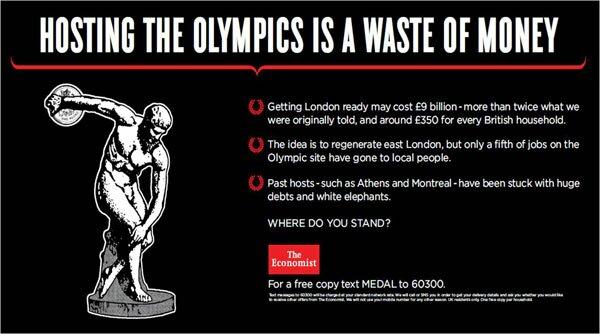 Economist questiona: vale a pena sediar as Olimpíadas