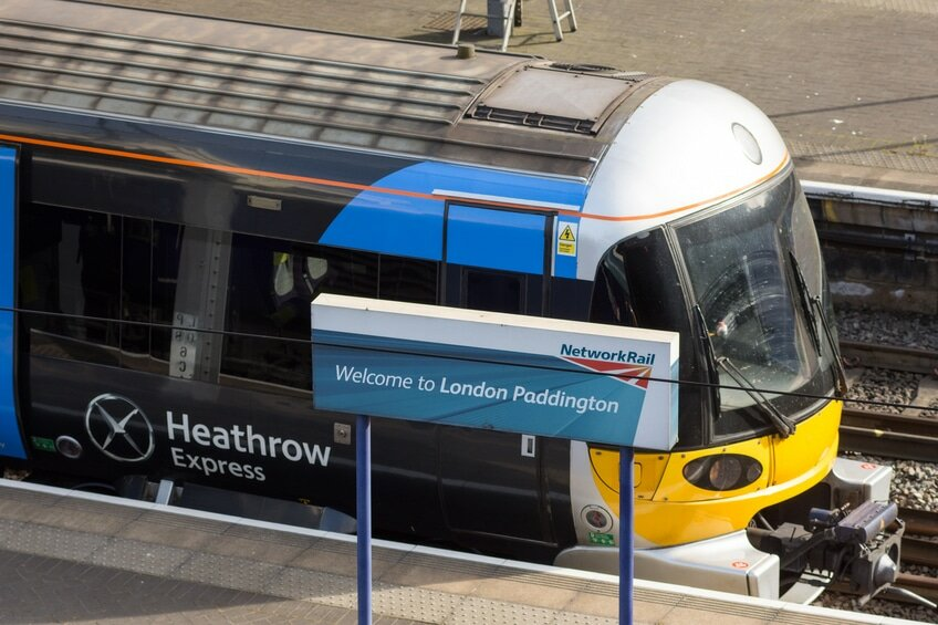 Heathrow Express em Paddington