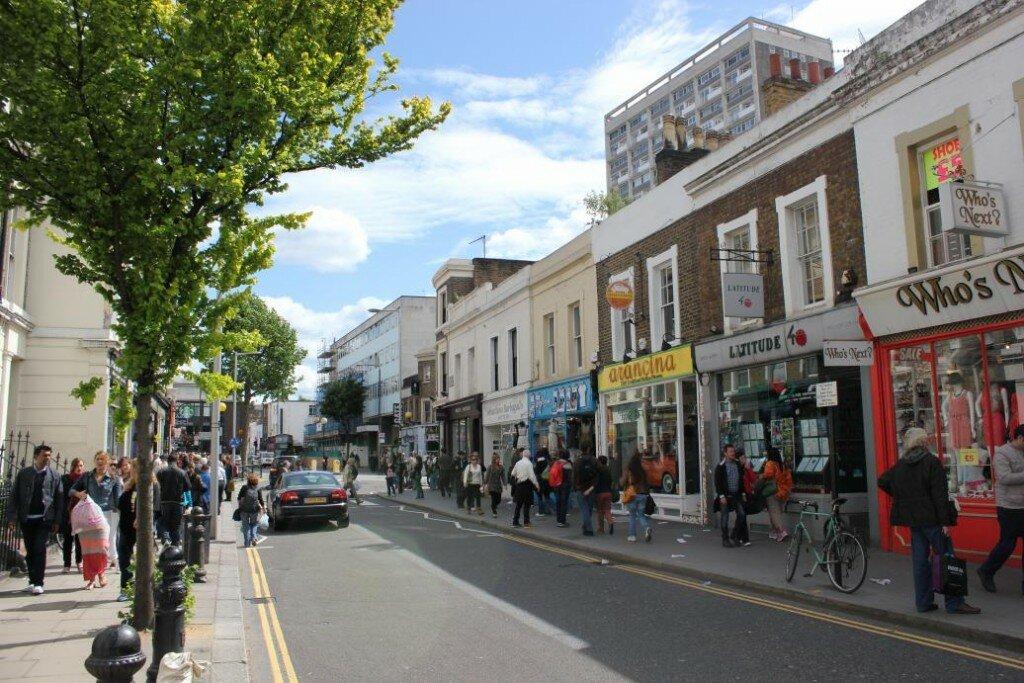 Portobello Market - Notting Hill - Mapa de Londres