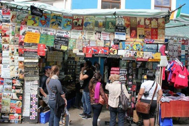 Conheça Portobello Market em Londres
