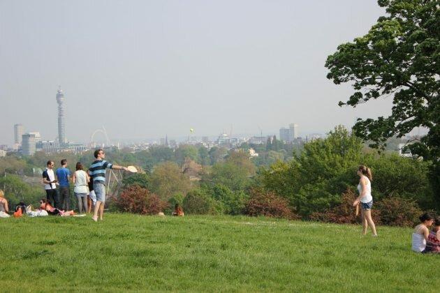Parque de Primrose Hill: Londres à vista