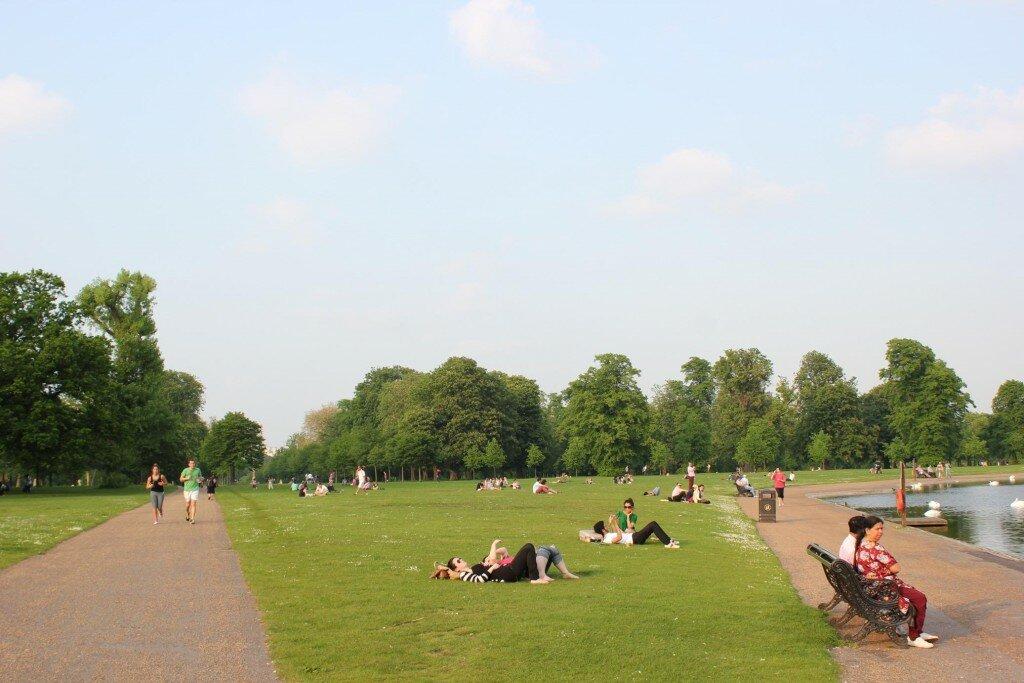 Kensington Gardens - Mapa de Londres