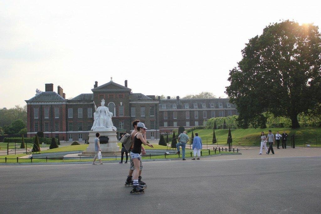 Do parque para o palácio