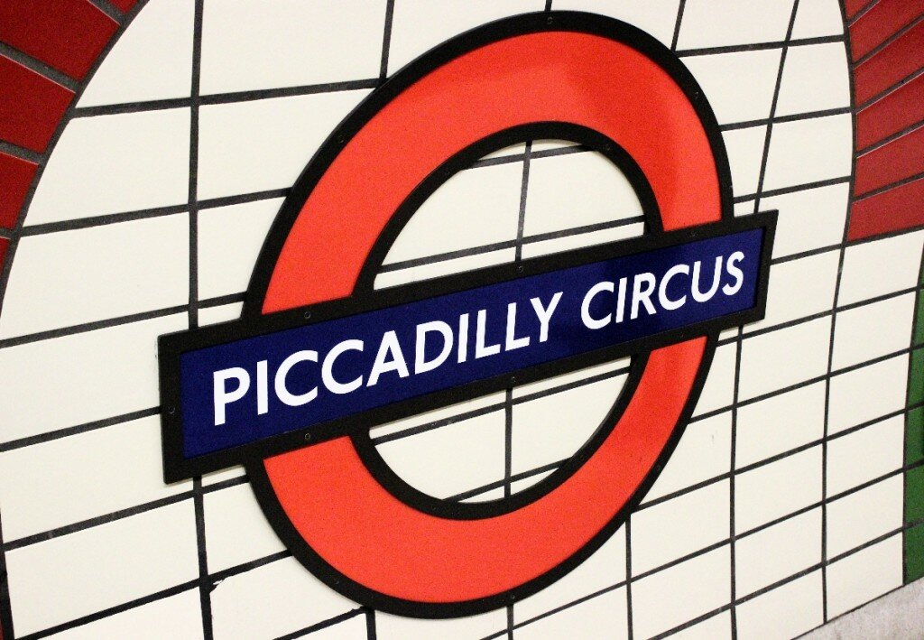 Símbolo do metrô de Londres - Mapa de Londres