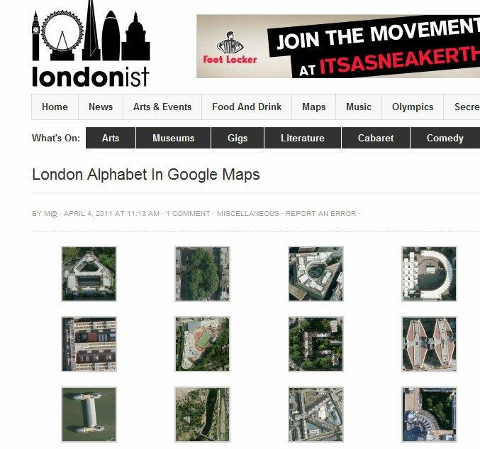 Parques e prédios de Londres formam o alfabeto