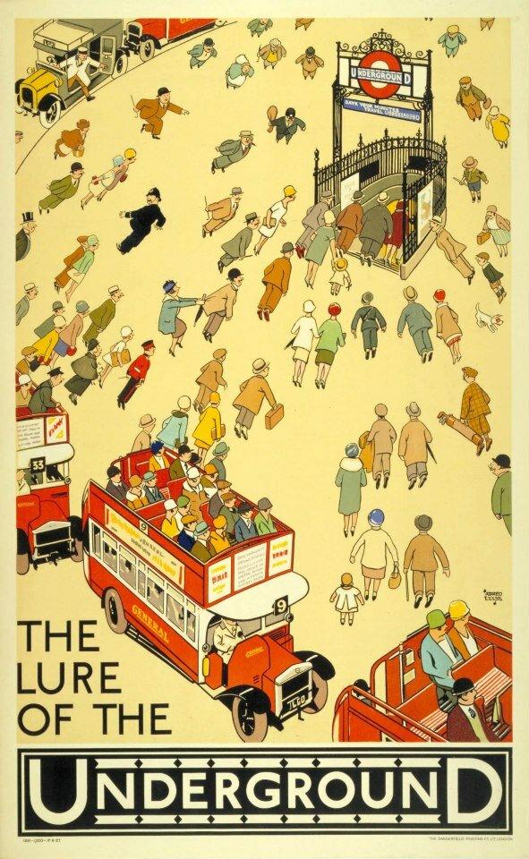 Metrô de Londres - cartaz - pôster - propaganda