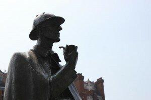 Estátua em Baker Street. Foto: Mapa de Londres