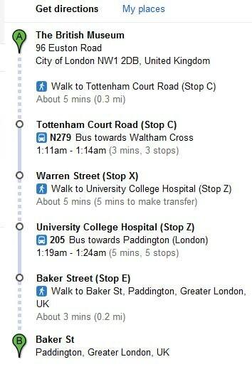 Google Maps indica rotas de metrô e ônibus em Londres