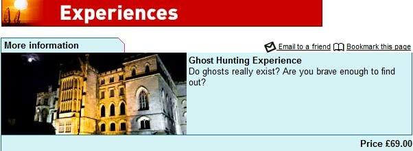 Banque o caça-fantasmas em Londres