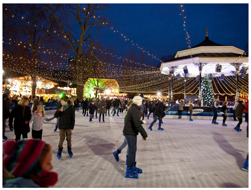 Patinando no Hyde Park. Foto: Hyde Park Winter Wonderland