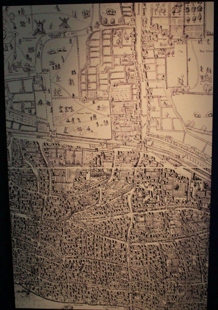 Museu de Londres - Mapa de Londres