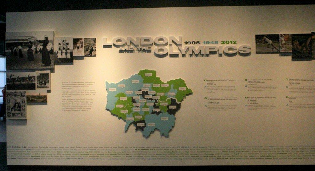 Londres sediou três vezes os Jogos Olímpicos, em 1908, 1948 e 2012. Foto: Mapa de Londres