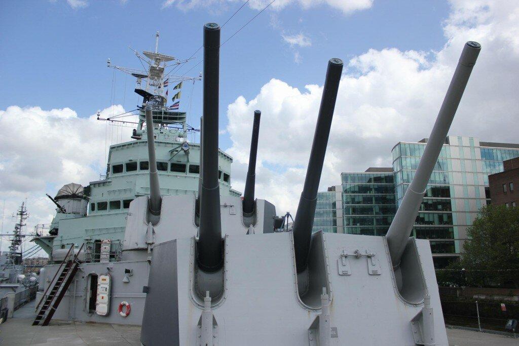 HMS Belfast, o museu do navio de guerra