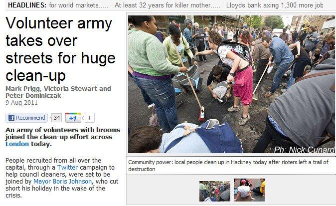 População se mobiliza para limpar Londres