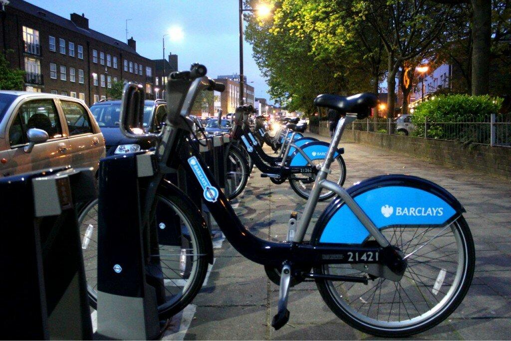 Boris Bikes - Bicicletas no Mapa de Londres