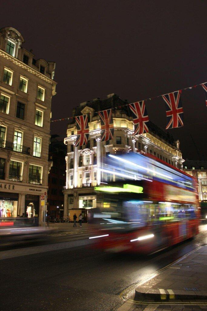 Ônibus em Londres - Mapa de Londres