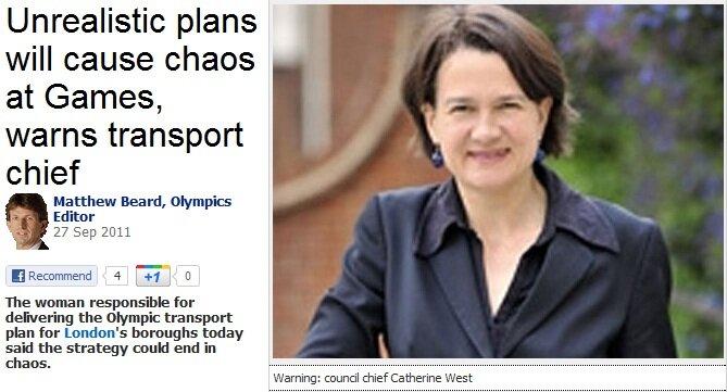 Conselheira teme caos no transporte de Londres em 2012