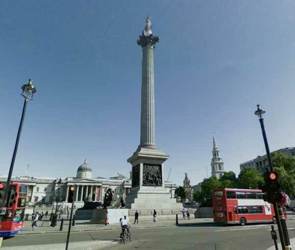 De Trafalgar Square para o Palácio de Buckingham