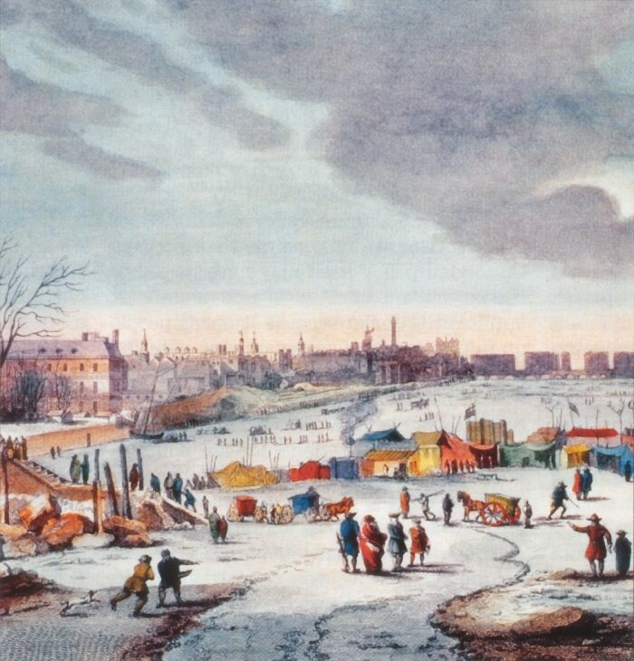 Rio Tâmisa congelado: River Thames Frost Fair