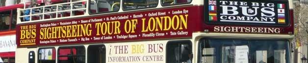 ônibus turístico em Londres