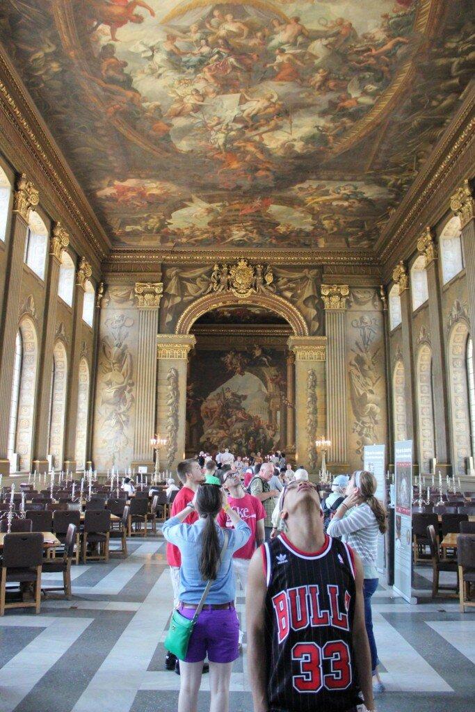 Difícil não se deslumbrar na Painted Hall. Foto: Mapa de Londres