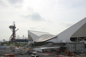 À distância no Parque Olímpico de Londres