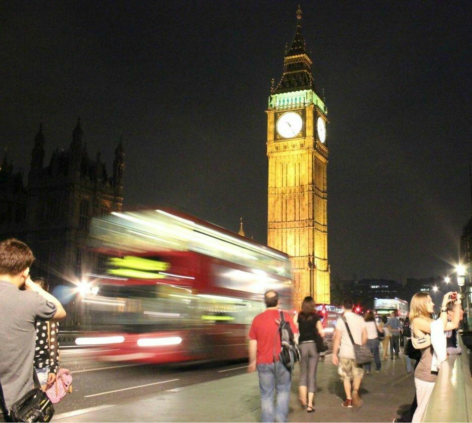 Palácio de Westminster em Londres - Mapa de Londres