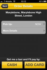 GetTaxi: app para pegar táxi em Londres