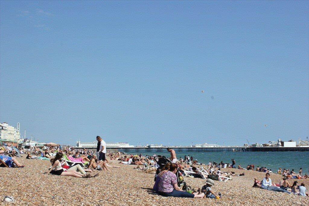 Brighton é famosa por sua praia, frequentada pela galera mais cool da Inglatera. Foto: Gustavo Heldt, Mapa de Londres.