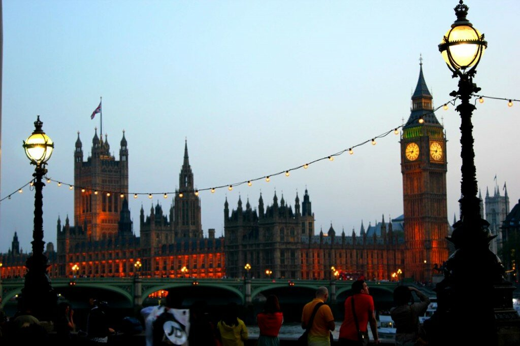 Parlamento do Reino Unido - Mapa de Londres