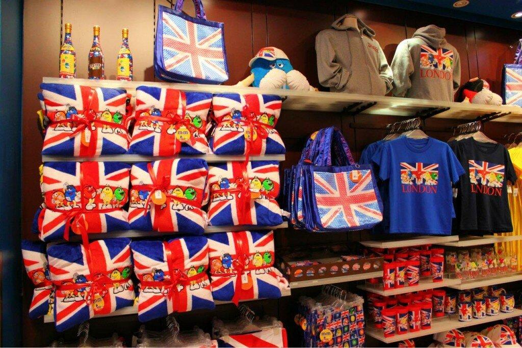 Souvenirs com a marca M&M's. Foto: Mapa de Londres
