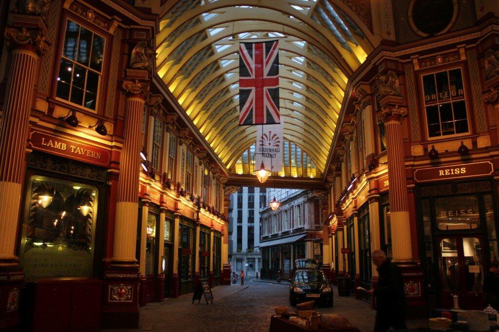 Leadenhall Market - Mapa de Londres