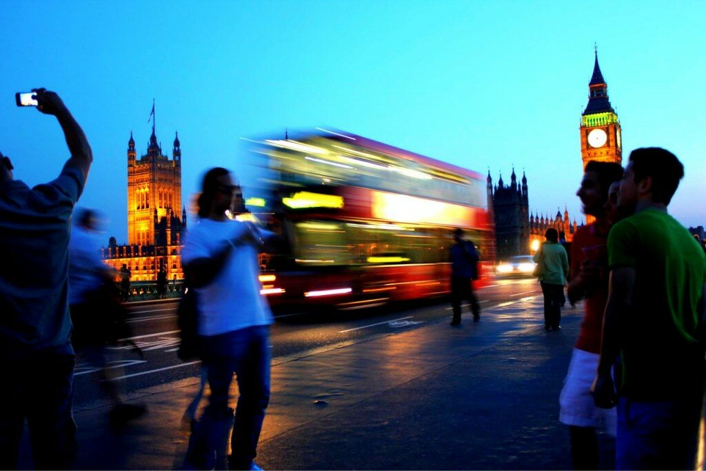 Westminster à noite - Mapa de Londres