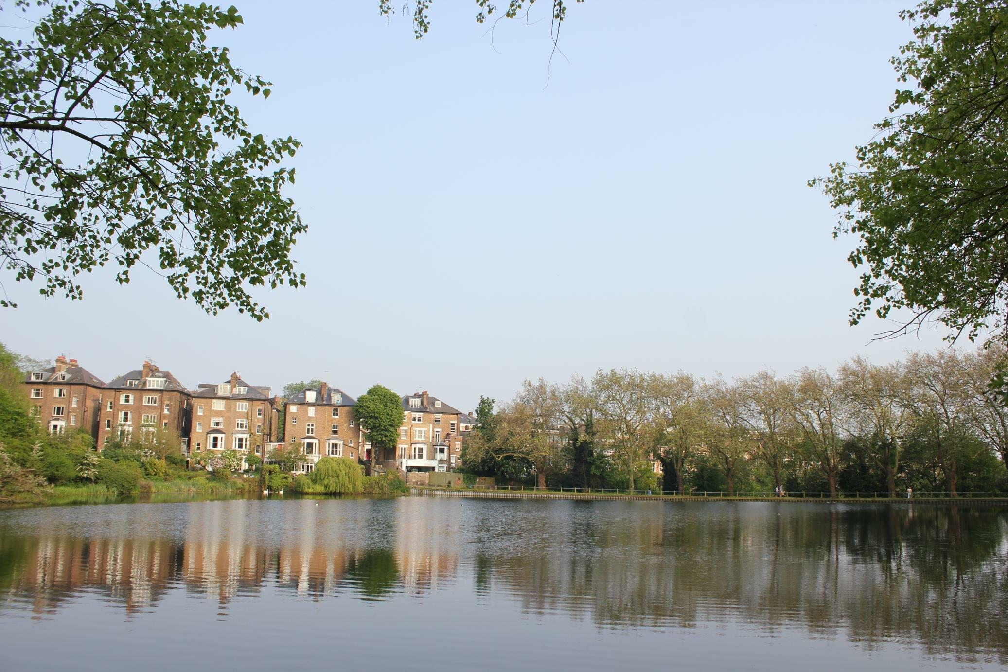 Hampstead Heath é um dos parques gigantes de Londres. Foto: Mapa de Londres