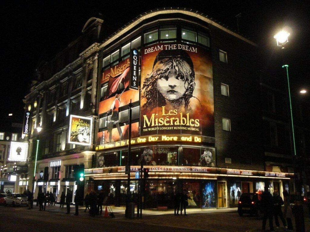 Les Misérables. Foto: Mapa de Londres