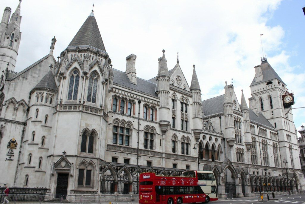Royal Courts of Justice - Mapa de Londres